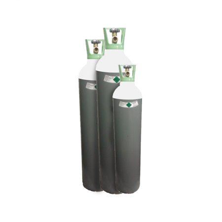 Cilinder Argon 10liter donker groen