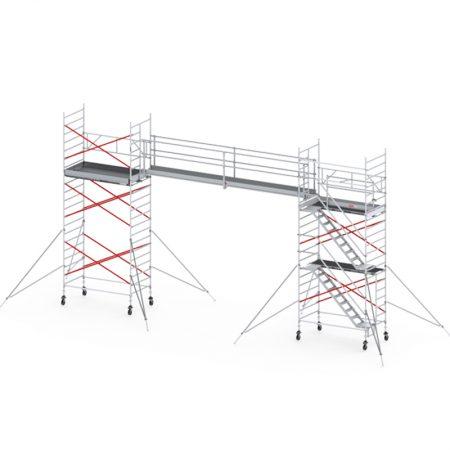 Alu. stage/loopbrug 10,00m