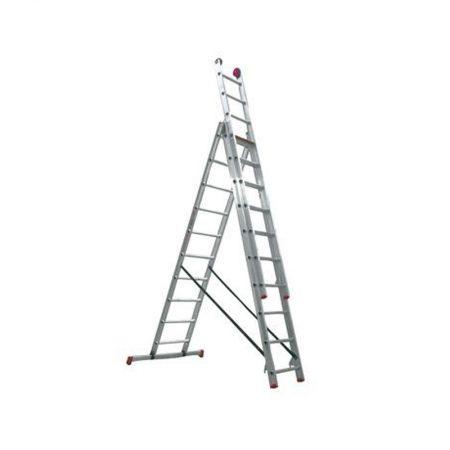 Reformladder 3x10 treden 6,25 mtr