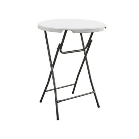 Sta tafel 110cm hoog 87cm rond wit