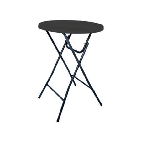 Sta tafel 110cm hoog 87cm rond Antraciet