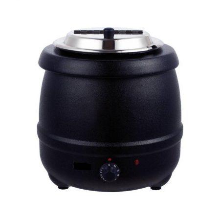 Warmhoudpan 10L zwart rvs deksel