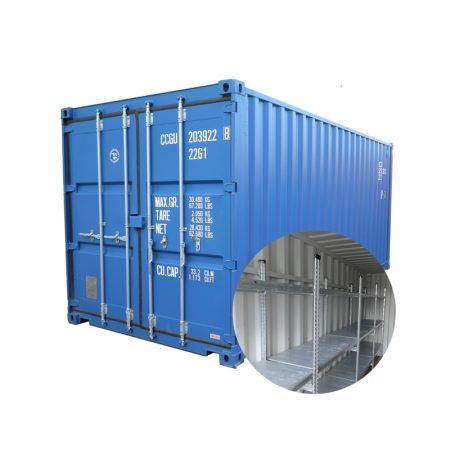 Container 20FT 6x2,44x2,70 met stellingen