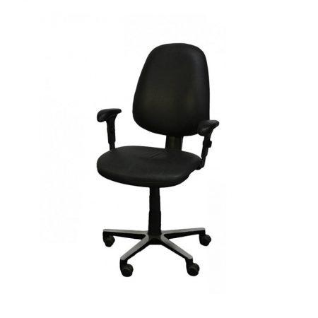 Bureaustoel met armleuning zwart